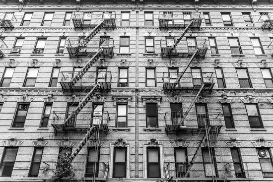 A Fire Escape of an Apartment Building in New York City-kasto-Photographic Print