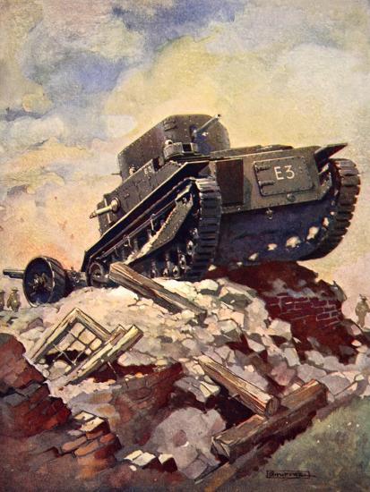 A First World War Tank-J. Allen Shuffrey-Giclee Print
