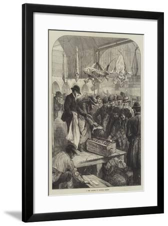 A Fish Auction in Columbia Market-Charles Joseph Staniland-Framed Giclee Print