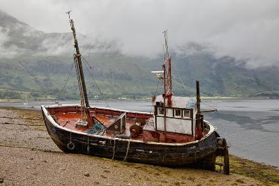 A Fishing Boat Abandoned on the Shore; Ardgour Isle of Mull Scotland-Design Pics Inc-Photographic Print