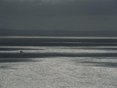 A Fishing Boat on the Vast Waters of Alitak Bay-George F^ Mobley-Photographic Print