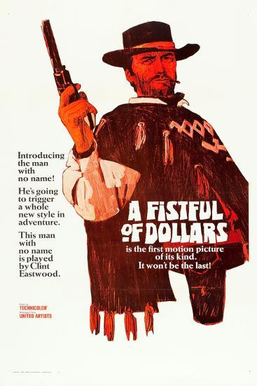 A Fistful of Dollars, Clint Eastwood, 1964--Poster