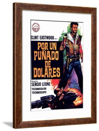 Clint Eastwood Cowboy Guns Framed Poster in Premium Wood Molding