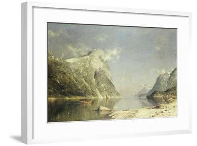 A Fjord Scene-Adelsteen Normann-Framed Giclee Print