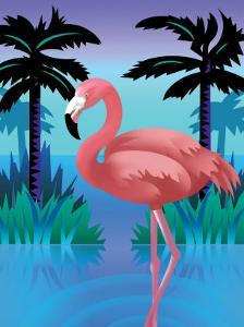 A Flamingo Standing in Water