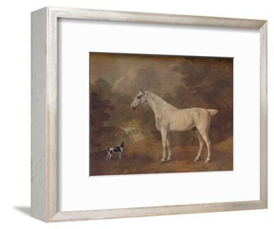 'A Flea-Bitten Grey and a Spotted Terrier', 1803-John Boultbee-Framed Giclee Print