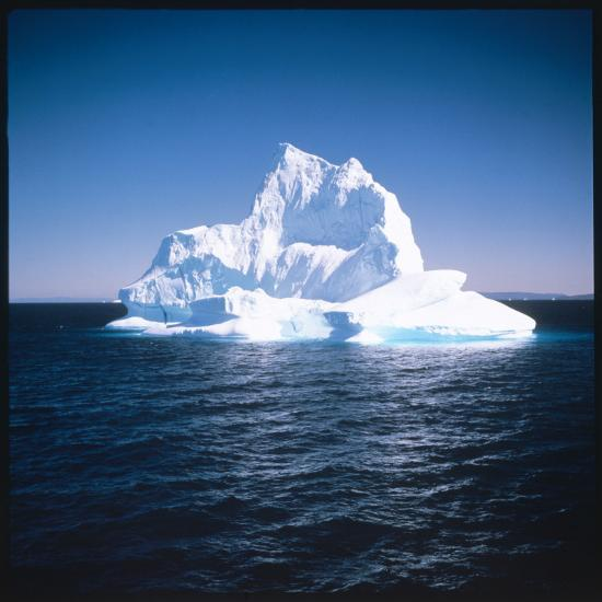 A Floating Iceberg in Disko Bay at Qeqertarsuaq (Godhavn), Greenland--Photographic Print