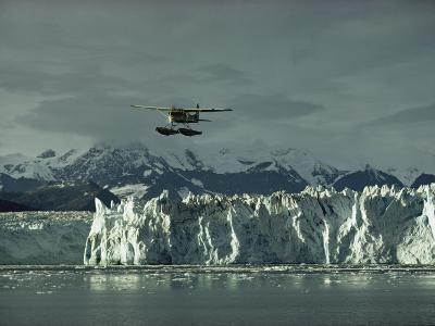 A Floatplane Traverses Columbia Glacier and Prince William Sound-George F^ Mobley-Photographic Print