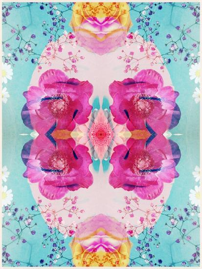 A Floral Montage with Blossoms and Ornaments from Spring Knots-Alaya Gadeh-Photographic Print