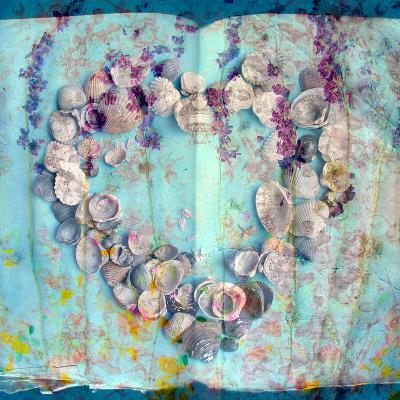 A Floral Montage with Seashells-Alaya Gadeh-Photographic Print