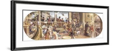 A Florentine Festival: Bringing the Left-Overs to the Animals and Table of the Poor-Ricciardo Meacci-Framed Giclee Print