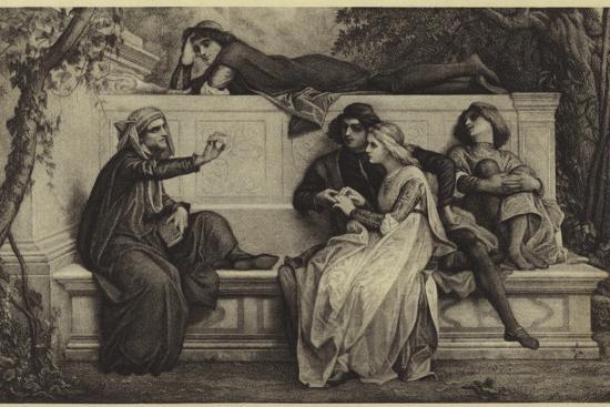A Florentine Poet-Alexandre Cabanel-Photographic Print