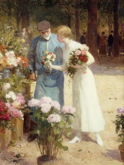 A Flower Market-Victor Gabriel Gilbert-Giclee Print