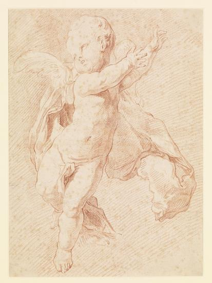 A Flying Putto-Edme Bouchardon-Giclee Print