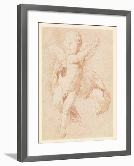 A Flying Putto-Edme Bouchardon-Framed Giclee Print