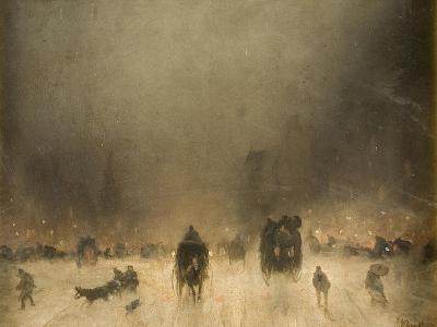 A Foggy Night in London-James Abbott McNeill Whistler-Giclee Print