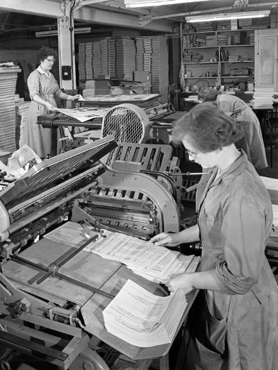 A Folding Machine in a Printworks, Mexborough, South Yorkshire, 1959-Michael Walters-Photographic Print