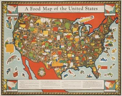A Food Map of the United States