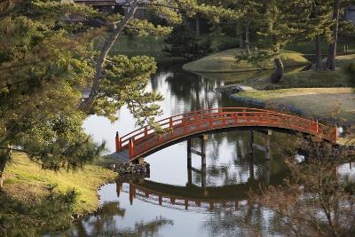 A Footbridge over Water in a Garden-Macduff Everton-Photographic Print