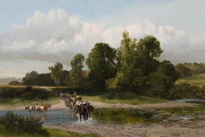 A Ford on the Whitadder, Berwickshire-James Peel-Giclee Print