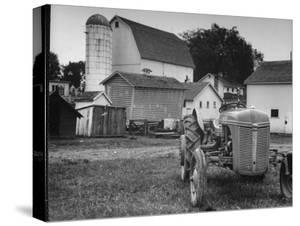 A Ford Tractor Being Sold During the Farmhouse Auction