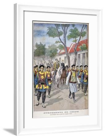 A Foreigner under the Guard of Regular Chinese Army, China, 1900-Oswaldo Tofani-Framed Giclee Print