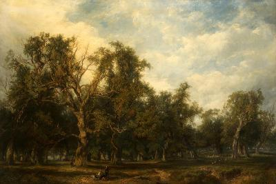 A Forest Glade-Frederick Henry Henshaw-Giclee Print