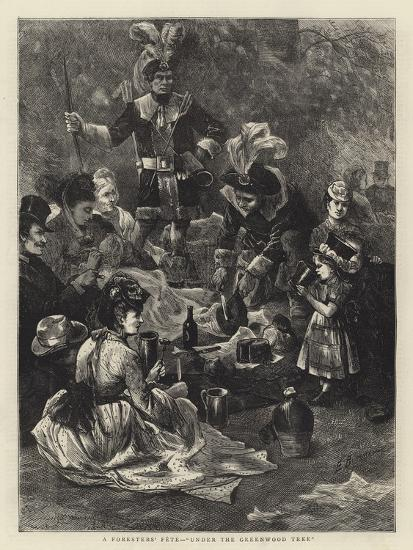 A Foresters' Fete, Under the Greenwood Tree-Edwin Buckman-Giclee Print