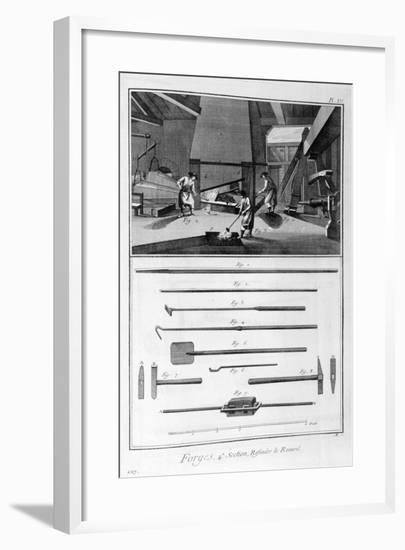 A Forge, 1751-1777-Denis Diderot-Framed Giclee Print
