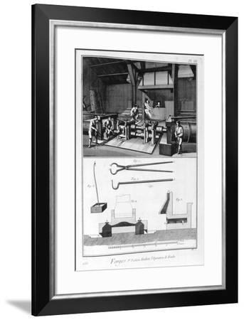 A Forge, Splitting Mill, 1751-1777-Denis Diderot-Framed Giclee Print