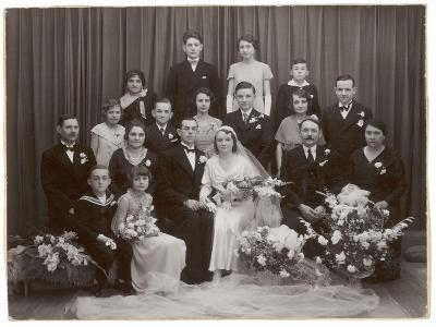 A Formal Wedding Photo - with All the Family Involved--Photographic Print