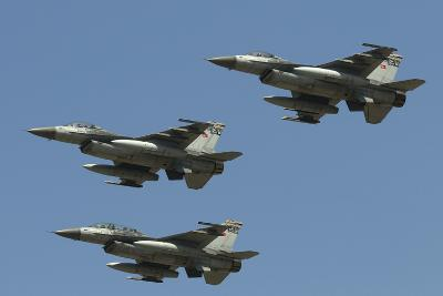 A Formation of Turkish Air Force F-16C/D Aircraft-Stocktrek Images-Photographic Print