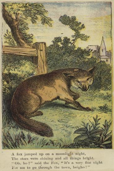 A Fox Jumped Up on a Moonlight Night--Giclee Print