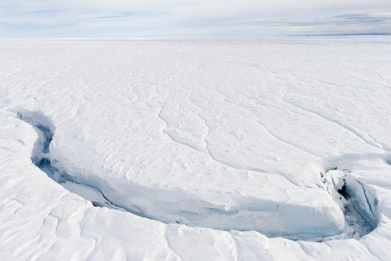 A Fracture Line Dissecting the Surface of the Ice on the Greenland Ice Sheet-Jason Edwards-Photographic Print