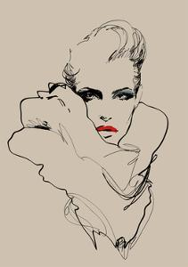 A Woman. Vector Sketch in Fashion Illustration Style by A Frants