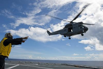A French Armee De Terre Sa 380 Puma Helicopter Taking Off--Photographic Print