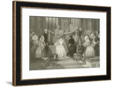 A French Marriage at St Roch-Eugene-Louis Lami-Framed Giclee Print
