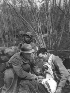 A French Soldier's Wounds are Treated, World War I, France, 1916
