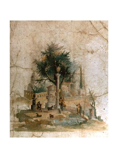 A Fresco from the Villa of Agrippa Postumus at Boscotrecase, Pompeii--Giclee Print