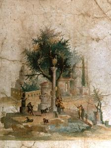A Fresco from the Villa of Agrippa Postumus at Boscotrecase, Pompeii