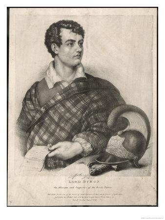 George Gordon Lord Byron English Poet as a Supporter of Greek Independence in 1826