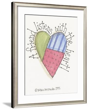 A Friend Listens-Debbie McMaster-Framed Giclee Print