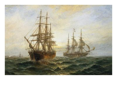 A Frigate Outward Bound Off Shoeburyness-Claude T^ Stanfield Moore-Giclee Print
