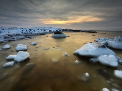 A Frozen, Rusty Bay on Andoya Island in Nordland County, Norway-Stocktrek Images-Photographic Print