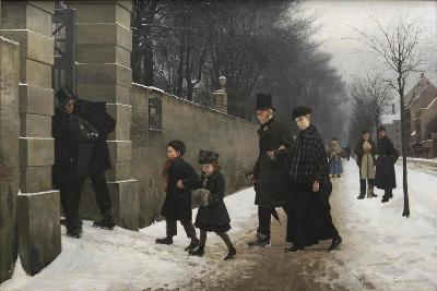 A Funeral, 1883-Frants Henningsen-Giclee Print