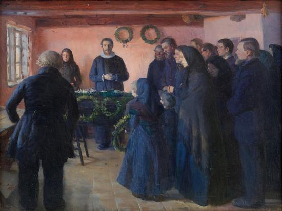 A Funeral, 1891-Anna Ancher-Giclee Print