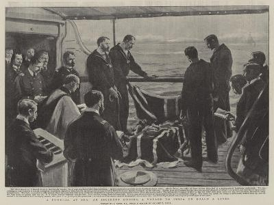 A Funeral at Sea, at Incident During a Voyage to India on Board a Liner-Joseph Nash-Giclee Print