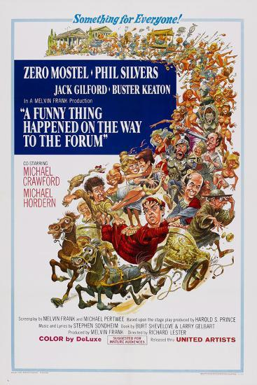 A Funny Thing Happened on the Way to the Forum--Poster