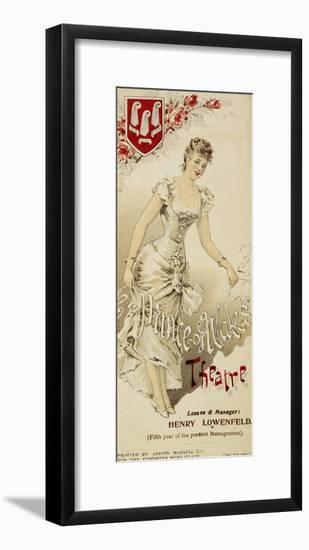 A Gaiety Girl--Framed Giclee Print