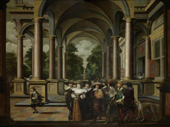 A Gallery-Dirck Van Delen-Art Print